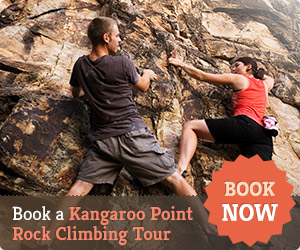 Climbing at Kangaroo Point Cliffs