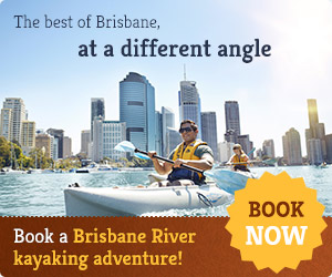 Kayaking in Brisbane River