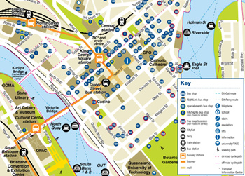 View Brisbane city bus stop map