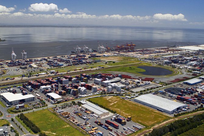 Port of Brisbane aerial shot