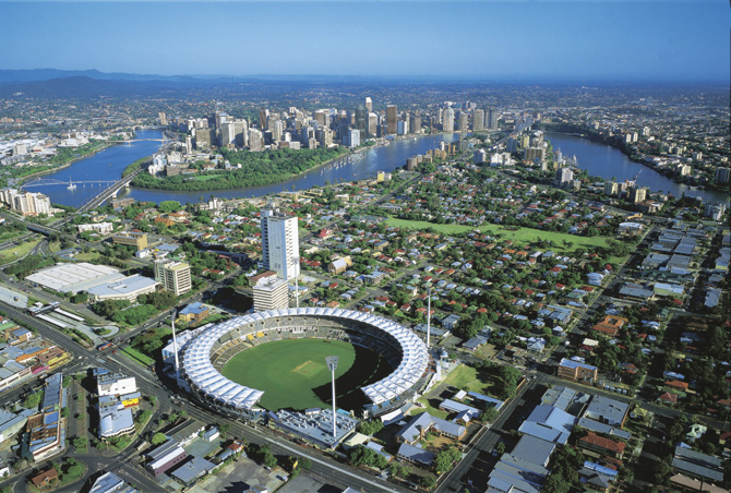 The Gabba - Brisbane Cricket Grounds Aerial View