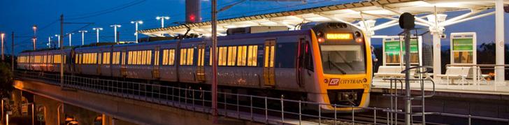 Brisbane train arriving