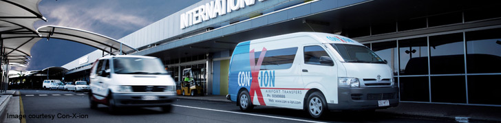 Conxion airport pickup at Brisbane international terminal