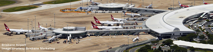 aerial of brisbane airport