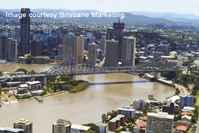 view of Brisbane River post 2011 floods