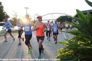 Brisbane Marathon Festival at sunrise