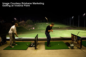 Golfing at Victoria Point, Brisbane