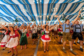 Oktoberfest Visitors Dancing
