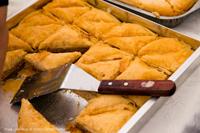 Traditional Greek food at Paniyiri