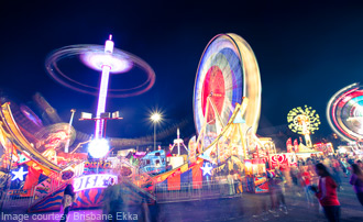 Ekka Rides at Night