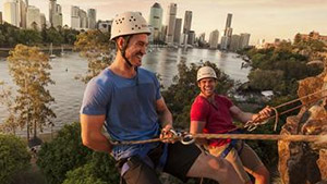 Abseiling the Kangaroo Point Cliffs