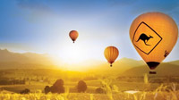 Brisbane Hot Air Ballooning Including Champagne Breakfast