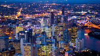 Brisbane City Twilight Scenic Flights